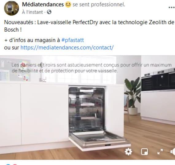 Nouveautés : Lave-vaisselle PerfectDry avec la technologie Zeolith de Bosch ! + d'infos au magasin